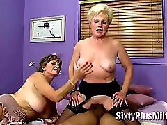 Mature mom loving large penis