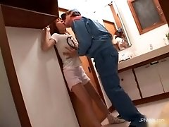 Asian brunette gets so horny when this dude licks her b