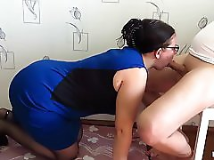 Mature MILF Sucks Dick And Gets Cum On Face!