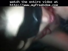 Mouthfucking my ex bdsm bondage slave femdom dominatio