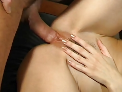Italian hot milf take cazzo in her large asshole anal troia