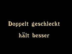 Vintage 70s german Doppelt geschleckt haelt besser cc79