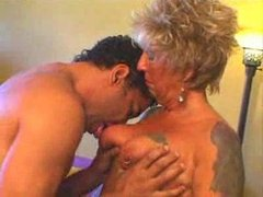 Horny german mature gets fucked by young guy
