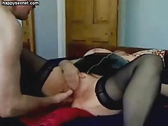Masturbating my old slut