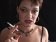 Hot Mature Cougar With Sexy Nails Smoking Dom