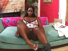 Plump ebony beauty Chayna White fucked hard