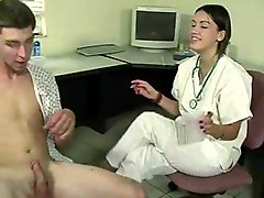 Female doctor gets sperm sample & taste from patient WF