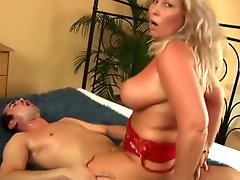 Beautiful Mature Blonde With Natural Tits