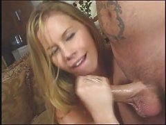 Tabitha Stern gives a good hand job talks dirty and takes lots of cum