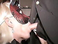 SlutMILFs suck fuck in Trapezeclub Cougar eats cum off cock that fucked her
