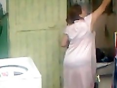 Spying Aunty Ass Washing Big Butt Chubby Plumper Mom