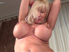 Big breasted mother hungry for a good fuck