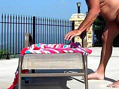 Fucking Outside Around The Pool