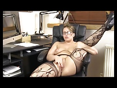 Mature Stockings Masturbation Orgasm