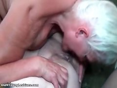 Two Old And Busty Lesbian Women Are Licking Pussy In 69