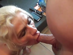 Cum on milf slut face