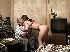 Young blond fucks grandpa