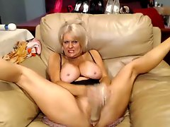 Webcam Busty 47 year old slut with big pussy teasing #3