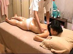 Schoolgirl At Massage Parlor Voyeur