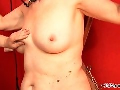 Nasty Old Woman Goes Crazy Getting Her Tits Rubbed Hard