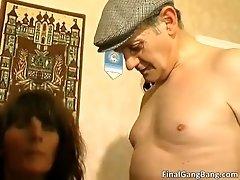 Slutty Brunette Hoe Blowing Jizzster And Getting Fucked