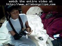 High Heeled Huzzy Black Ebony Cumshots Ebony Swallow In