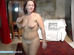 Czech MILF with big boobs does strip and rides on cock