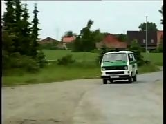 German Officers Fucking In Their Van