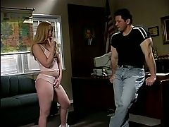 Small tits blonde gets her pussy pounded by a big cock