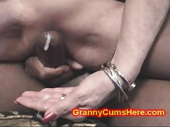 2 Granny Whores Get Filthy With Cum