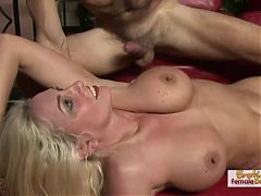Curvy Kayla pleases with her hot GILF body