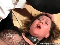 Hot Nasty Big Boobed MILF Slut Gets Tied And Spanked Th