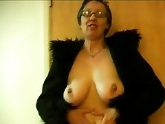 Granny Displays her Breasts