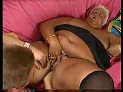 Fat german woman BMW