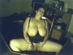 My pervert busty mom having fun at PC Hidden cam