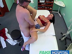 FakeHospital Busty sexy mature MILF helps the doctor relieve some sex