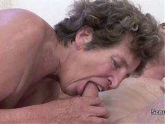 German 71yr Old Granny Get Ass Fuck By Grand Son
