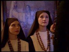 Threesome with nun