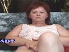 Chubby Milf Mature Woman Masturbates Herself
