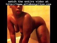 Chubby ghetto booty freak shower solo ameman black eb