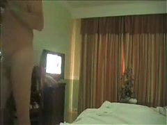 Mature couple fuck in a motel