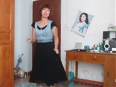 Chinese Old Woman Dancing