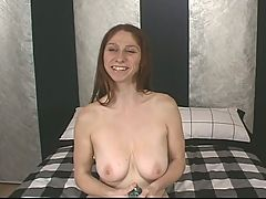 Woman Masturibating In Bed