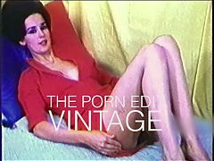 TOO MUCH vintage leggy brunette striptease 60s