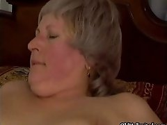 Thick Grey Old Lady Gets Her Ass Fucked Hard By A Horny