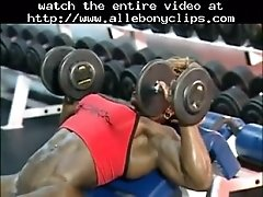 A Great Workout Day Black Ebony Cumshots Ebony Swallow