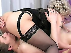 Hot milf rides young guy until he cums