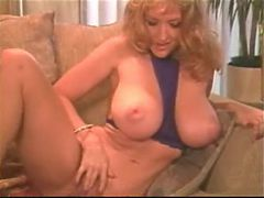 Danni Ashe Removes Her Purple Lingerie