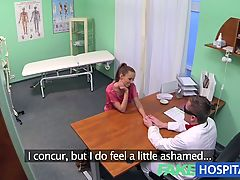 FakeHospital Hot Brunette Patient returns craving the doctor