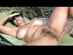 Horny mature woman gives head to and screws this stiff dick